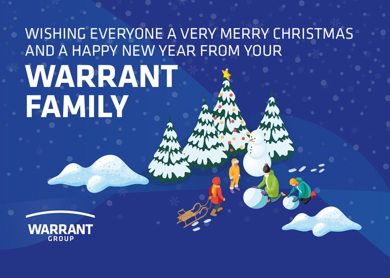Christmas message from Warrant Group